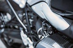 Κινηματογράφηση σε πρώτο πλάνο στοιχείων πολυτέλειας μοτοσικλετών: Μέρη μοτοσικλετών Στοκ φωτογραφίες με δικαίωμα ελεύθερης χρήσης
