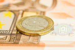 Κινηματογράφηση σε πρώτο πλάνο στο νόμισμα Lietuva Στοκ Φωτογραφία