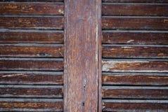 Κινηματογράφηση σε πρώτο πλάνο στο παλαιό ξύλινο υπόβαθρο τοίχων πινάκων οριζόντων Στοκ Εικόνες