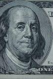 Κινηματογράφηση σε πρώτο πλάνο στο Benjamin Franklin Στοκ εικόνες με δικαίωμα ελεύθερης χρήσης