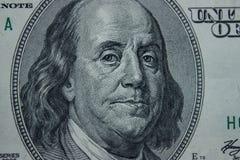 Κινηματογράφηση σε πρώτο πλάνο στο Benjamin Franklin Στοκ Εικόνα