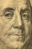 Κινηματογράφηση σε πρώτο πλάνο στο Benjamin Franklin Στοκ φωτογραφίες με δικαίωμα ελεύθερης χρήσης