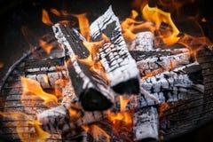 Κινηματογράφηση σε πρώτο πλάνο σχαρών πυρκαγιάς σχαρών Μαύρη ανασκόπηση Στοκ φωτογραφίες με δικαίωμα ελεύθερης χρήσης