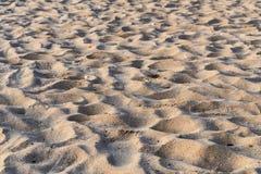 Κινηματογράφηση σε πρώτο πλάνο σχεδίων παραλιών άμμου για το αφηρημένο υπόβαθρο Στοκ φωτογραφία με δικαίωμα ελεύθερης χρήσης