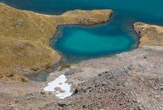 Κινηματογράφηση σε πρώτο πλάνο της λίμνης Angelus στο εθνικό πάρκο λιμνών του Nelson Στοκ Εικόνες