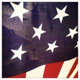 Κινηματογράφηση σε πρώτο πλάνο της αμερικανικής σημαίας ΗΠΑ Στοκ Φωτογραφίες
