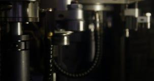 Κινηματογράφηση σε πρώτο πλάνο της μηχανής επεξεργασίας απόθεμα βίντεο