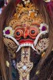 Κινηματογράφηση σε πρώτο πλάνο της παραδοσιακής από το Μπαλί μάσκας Barong στην Ινδονησία Στοκ Εικόνα