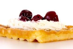 Κινηματογράφηση σε πρώτο πλάνο της φρέσκιας βάφλας αρτοποιείων Στοκ φωτογραφία με δικαίωμα ελεύθερης χρήσης
