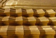Κινηματογράφηση σε πρώτο πλάνο της χρυσής λεπτομέρειας stupa Στοκ εικόνες με δικαίωμα ελεύθερης χρήσης