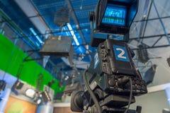 Κινηματογράφηση σε πρώτο πλάνο τηλεοπτικής κάμερα Στοκ φωτογραφίες με δικαίωμα ελεύθερης χρήσης