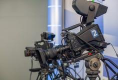 Κινηματογράφηση σε πρώτο πλάνο τηλεοπτικής κάμερα Στοκ εικόνες με δικαίωμα ελεύθερης χρήσης