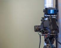 Κινηματογράφηση σε πρώτο πλάνο τηλεοπτικής κάμερα Στοκ Εικόνες