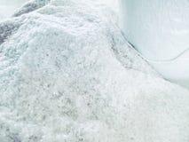 Κινηματογράφηση σε πρώτο πλάνο του άσπρου πηκτώματος πυριτίου ως πρώτη ύλη Στοκ εικόνες με δικαίωμα ελεύθερης χρήσης