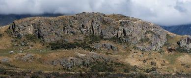 Κινηματογράφηση σε πρώτο πλάνο του βράχου της μέσης γης, Νέα Ζηλανδία Στοκ Φωτογραφία