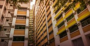 Κινηματογράφηση σε πρώτο πλάνο του δημόσιου κατοικημένου διαμερίσματος κατοικίας της Σιγκαπούρης σε Bukit Panjang Στοκ εικόνα με δικαίωμα ελεύθερης χρήσης