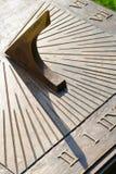 Κινηματογράφηση σε πρώτο πλάνο του ηλιακού ρολογιού Στοκ Φωτογραφίες