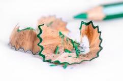 Κινηματογράφηση σε πρώτο πλάνο του ξυρίσματος μολυβιών Στοκ Φωτογραφίες