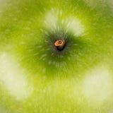Κινηματογράφηση σε πρώτο πλάνο του πράσινου μήλου Στοκ φωτογραφία με δικαίωμα ελεύθερης χρήσης