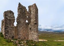Κινηματογράφηση σε πρώτο πλάνο του τοίχου των καταστροφών του Castle Ardvreck, Σκωτία Στοκ Φωτογραφία
