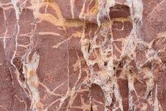 Κινηματογράφηση σε πρώτο πλάνο του φυσικού υποβάθρου βράχου Στοκ Εικόνα