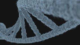 Κινηματογράφηση σε πρώτο πλάνο του DNA Διανυσματική απεικόνιση