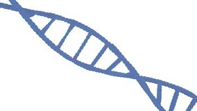 Κινηματογράφηση σε πρώτο πλάνο του DNA Ελεύθερη απεικόνιση δικαιώματος