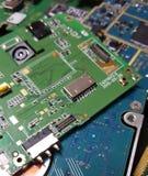 Κινηματογράφηση σε πρώτο πλάνο τσιπ υπολογιστή Στοκ φωτογραφία με δικαίωμα ελεύθερης χρήσης