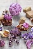 Ποτ πουρί που χρησιμοποιείται για aromatherapy Στοκ Φωτογραφίες