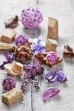 Ποτ πουρί που χρησιμοποιείται για aromatherapy Στοκ φωτογραφίες με δικαίωμα ελεύθερης χρήσης