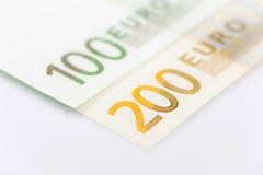 Κινηματογράφηση σε πρώτο πλάνο των ευρο- τραπεζογραμματίων Στοκ φωτογραφία με δικαίωμα ελεύθερης χρήσης
