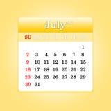 Κινηματογράφηση σε πρώτο πλάνο των ημερομηνιών στην ημερολογιακή σελίδα Στοκ εικόνες με δικαίωμα ελεύθερης χρήσης