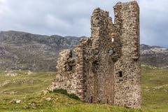 Κινηματογράφηση σε πρώτο πλάνο των καταστροφών του Castle Ardvrech, Σκωτία Στοκ Εικόνες