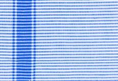 Κινηματογράφηση σε πρώτο πλάνο υφάσματος λωρίδων, σύσταση τραπεζομάντιλων Στοκ Εικόνες