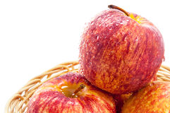 Κινηματογράφηση σε πρώτο πλάνο φρούτων της Apple που απομονώνεται Στοκ φωτογραφίες με δικαίωμα ελεύθερης χρήσης