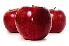 Κινηματογράφηση σε πρώτο πλάνο φρούτων της Apple που απομονώνεται Στοκ Φωτογραφίες