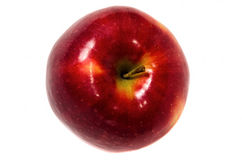 Κινηματογράφηση σε πρώτο πλάνο φρούτων της Apple που απομονώνεται Στοκ Εικόνα
