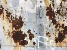 Κινηματογράφηση σε πρώτο πλάνο φωτογραφιών του παλαιού σκουριασμένου χάλυβα grunge Στοκ εικόνα με δικαίωμα ελεύθερης χρήσης