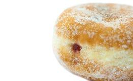 Κινηματογράφηση σε πρώτο πλάνο Doughnut μαρμελάδας Στοκ Εικόνες