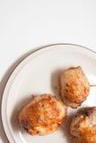 Κινηματογράφηση σε πρώτο πλάνο roulade κοτόπουλου Στοκ Εικόνα