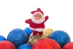 Κινηματογράφηση σε πρώτο πλάνο Santa παιχνιδιών Χριστουγέννων Στοκ Εικόνες
