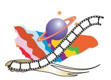 κινηματογράφος ανασκόπησης ελεύθερη απεικόνιση δικαιώματος