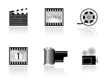 κινηματογράφος εικονιδίων συμπαθητικός απεικόνιση αποθεμάτων