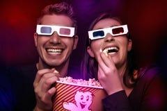Κινηματογράφος διασκέδασης με popcorn Στοκ φωτογραφίες με δικαίωμα ελεύθερης χρήσης