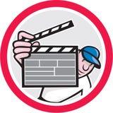 Κινηματογράφος διευθυντής Holding Clipboard Cartoon ελεύθερη απεικόνιση δικαιώματος