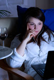 Κινηματογράφος και ποτήρι του κρασιού Στοκ φωτογραφία με δικαίωμα ελεύθερης χρήσης