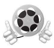 κινηματογράφος μασκότ χαρακτήρα ο κ. reel Στοκ εικόνες με δικαίωμα ελεύθερης χρήσης