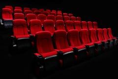 Κινηματογράφος με τα κόκκινα καθίσματα Στοκ φωτογραφίες με δικαίωμα ελεύθερης χρήσης