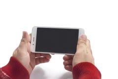 Κινηματογράφος προσοχής τύπων; τραγούδι στο τηλέφωνο αφής ενώ μέσα χαλαρώστε τη θέση Στοκ Εικόνα