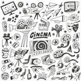 Κινηματογράφος doodles Στοκ φωτογραφίες με δικαίωμα ελεύθερης χρήσης